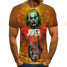 Load image into Gallery viewer, New Hot Sale Clown T Shirt Men/women Joker Face 3D Printed Terror Fashion T-shirts Cool Character joker Harajuku Clothing