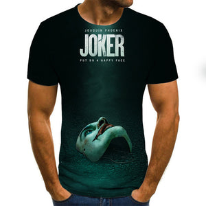 New Hot Sale Clown T Shirt Men/women Joker Face 3D Printed Terror Fashion T-shirts Cool Character joker Harajuku Clothing