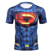 Load image into Gallery viewer, 3D Summer T Shirt Men New Superhero Ironman Short Sleeve Men Tshirt Quick Dry Fitness Clothing Compression T-Shirt Men Tops&Tees