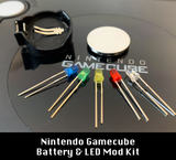 Gamecube Battery Mod + Color Power LED Kit