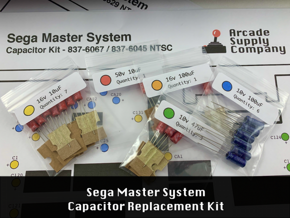 Master System Capacitor Replacement Kit