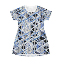 Tetra All Over Print T-Shirt Dress - seed