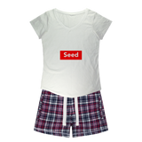 seed Girls Sleepy Tee and Flannel Short - seed