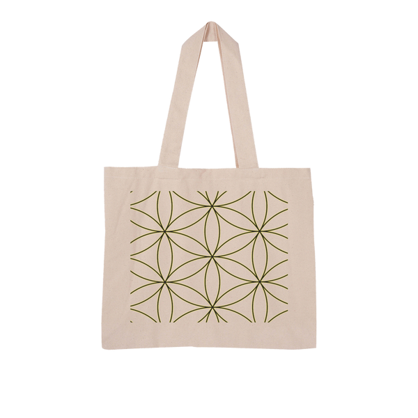 Sacred Perception Series Large Organic Tote Bag - seed