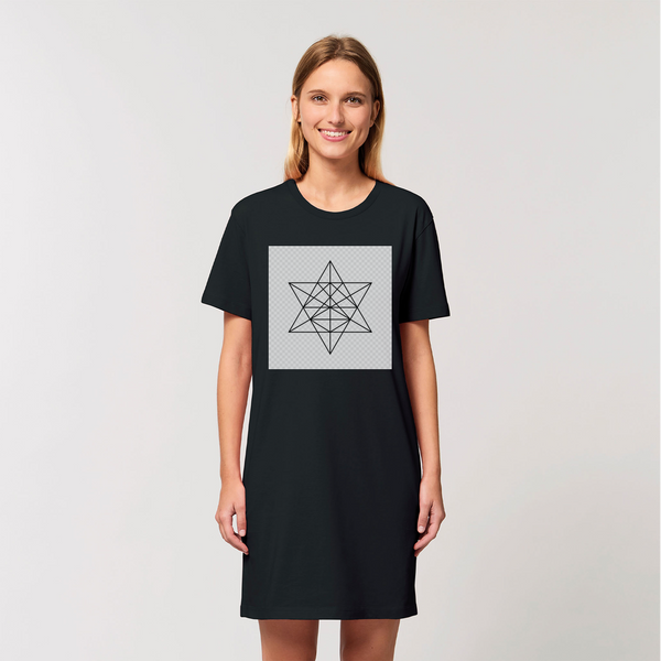 Tetrahedron Series Organic T-Shirt Dress - seed