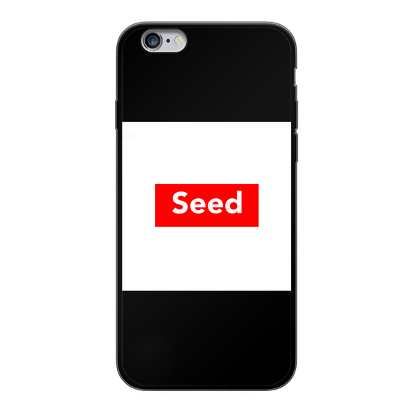 seed Back Printed Black Soft Phone Case