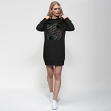 Sacred Crystal Collection Premium Adult Hoodie Dress - seed
