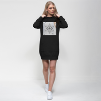 Tetrahedron Series Premium Adult Hoodie Dress - seed