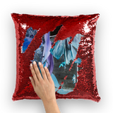 Opal Iris Sequin Cushion Cover - seed