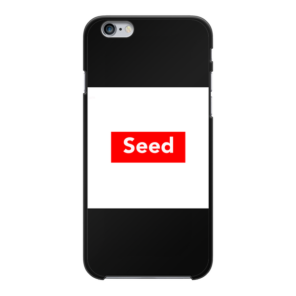 seed Back Printed Black Hard Phone Case