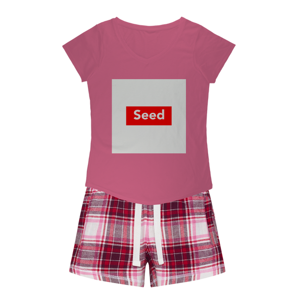 seed Girls Sleepy Tee and Flannel Short