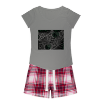 Sacred Crystal Collection Girls Sleepy Tee and Flannel Short - seed