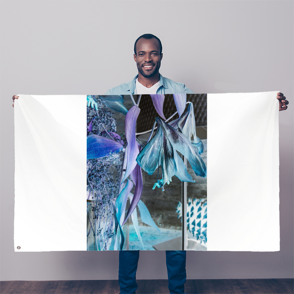Opal Iris Sublimation Flag - seed