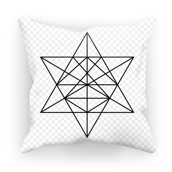 Tetrahedron Series Sublimation Cushion Cover - seed
