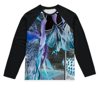 Opal Iris Sublimation Baseball Long Sleeve T-Shirt - seed