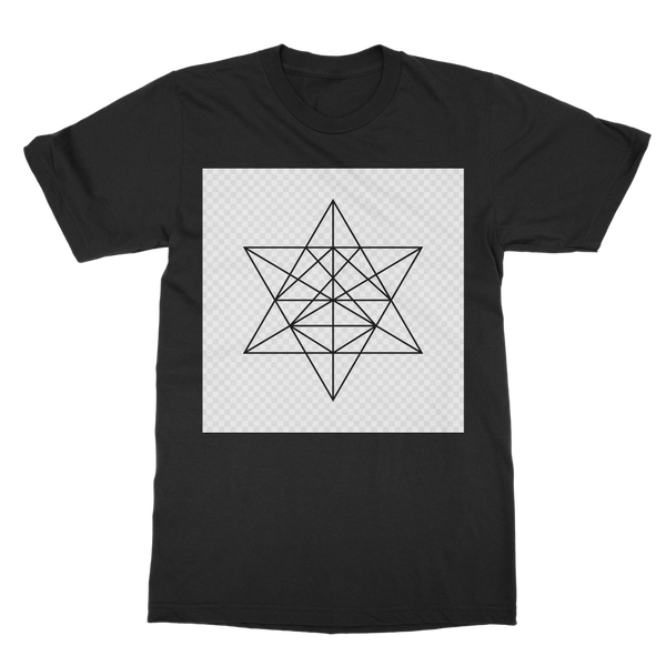 Tetrahedron Series Classic Heavy Cotton Adult T-Shirt - seed