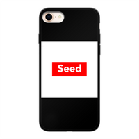 seed Back Printed Black Soft Phone Case - seed