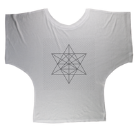Tetrahedron Series Sublimation Batwing Top - seed