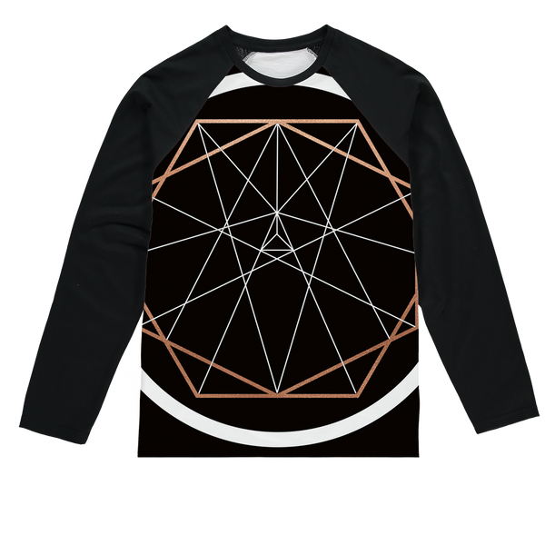 Sacred Geometry Series Sublimation Baseball Long Sleeve T-Shirt - seed