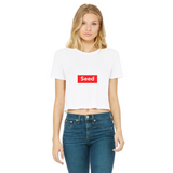 seed Classic Women's Cropped Raw Edge T-Shirt - seed