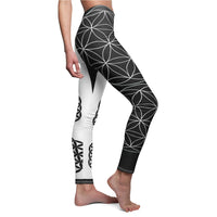 Flower of Life Women's Cut & Sew Casual Leggings - seed