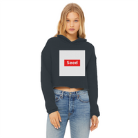 seed Ladies Cropped Raw Edge Hoodie - seed