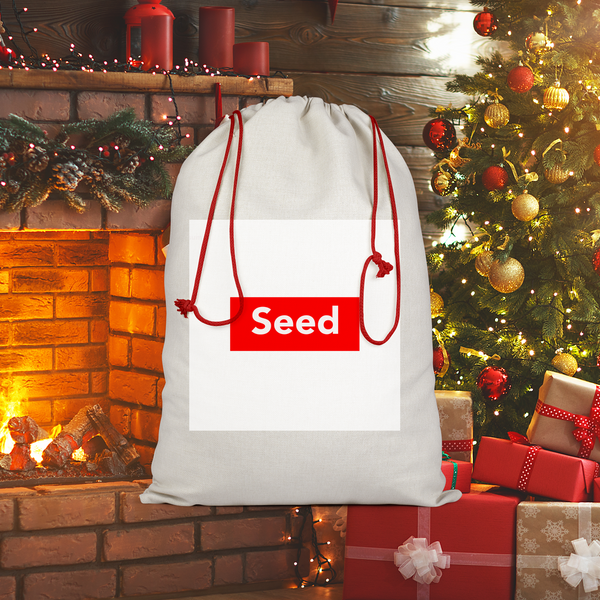 seed Sublimation Linen Drawstring Sack - seed