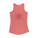 Tetrahedron Series Women Performance Tank Top - seed