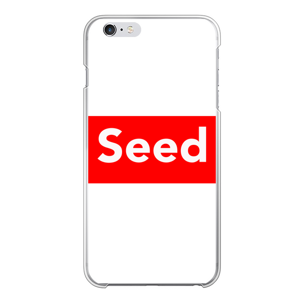 seed Back Printed Transparent Hard Phone Case - seed