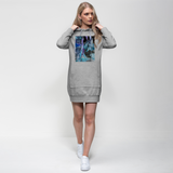 Opal Iris Premium Adult Hoodie Dress - seed