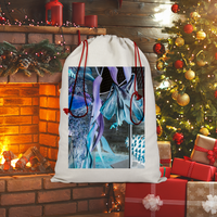 Opal Iris Sublimation Linen Drawstring Sack - seed