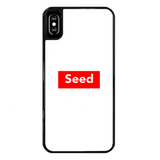 seed Back Printed Black Hard Phone Case - seed