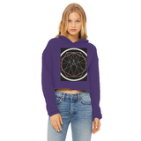 Sacred Geometry Series Ladies Cropped Raw Edge Hoodie - seed