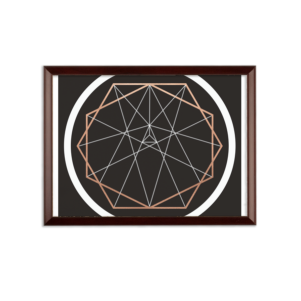 Sacred Geometry Series Sublimation Wall Plaque - seed