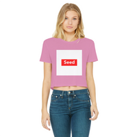 seed Classic Women's Cropped Raw Edge T-Shirt