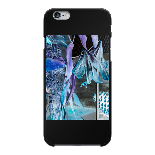 Opal Iris Back Printed Black Hard Phone Case - seed