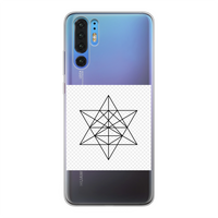 Tetrahedron Series Back Printed Transparent Soft Phone Case - seed
