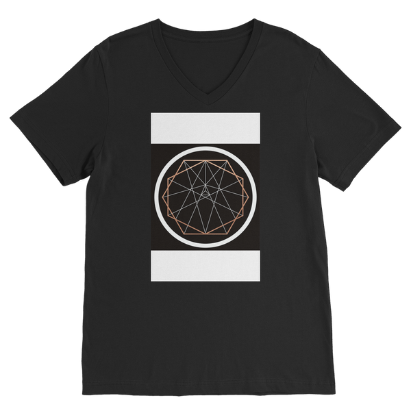 Sacred Geometry Series Premium V-Neck T-Shirt - seed