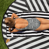Sacred Geometry Swimsuit | All over Print  One-Piece Swimsuit | Visceral - seed