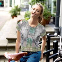 Angel All-Over Print Crop Top Outdoor Adventures Await - seed