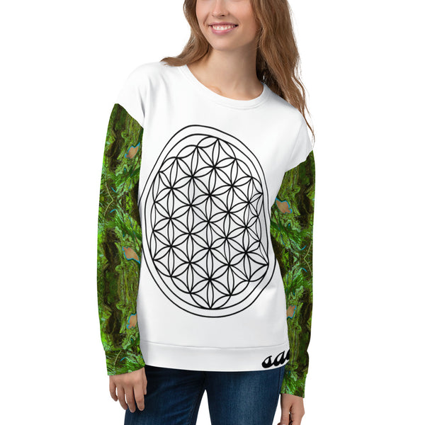 Goddess of Compassion Uni-Verse Unisex Sweatshirt All Over Print - seed