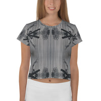 Designed by an artist in the USA All Over Print Crop Top  Outdoor Clothing Unisex - seed