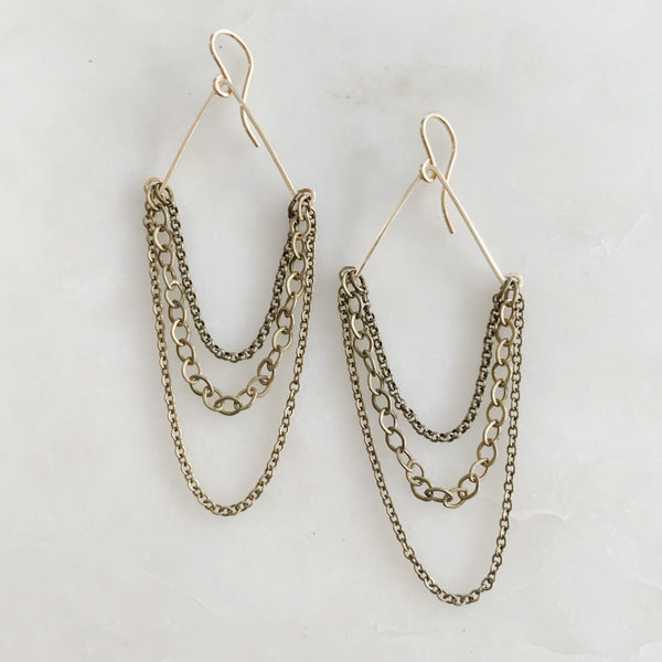 Draped Chain earrings