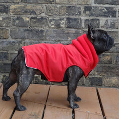 Girls Winter Dog Coat - Red