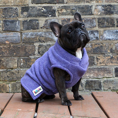 Girls Vest - Purple Heather (Limited Edition) - French Bulldog Pug Fleece Sweater