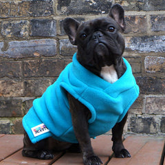 Girls Vest - Mermaid Blue - French Bulldog Pug Fleece Sweater