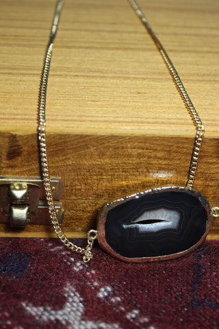 Black Beauty Agate Necklace