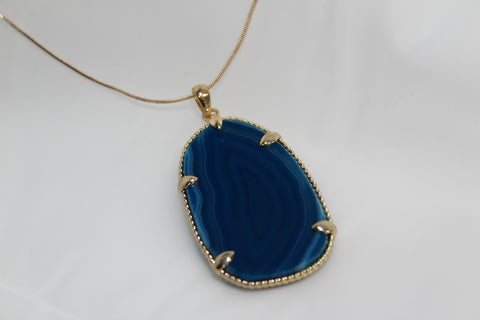 Artsy Blue Agate Necklace