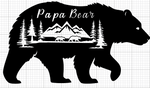 Papa Bear decal, 2 bear cubs