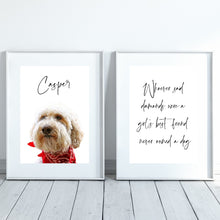 Load image into Gallery viewer, Dog Quote Print - Diamonds - Wildfig & Co
